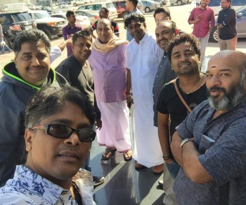 Abhijith PS Nair with team
