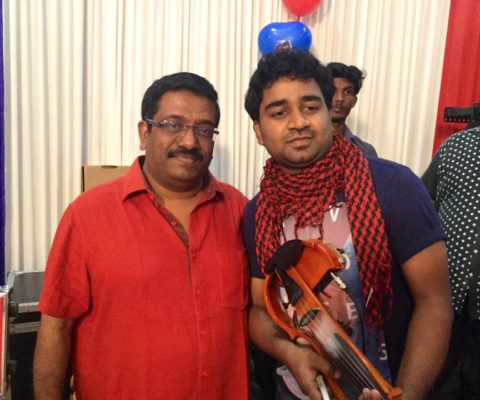 Abhijith PS Nair with Music Director Srath