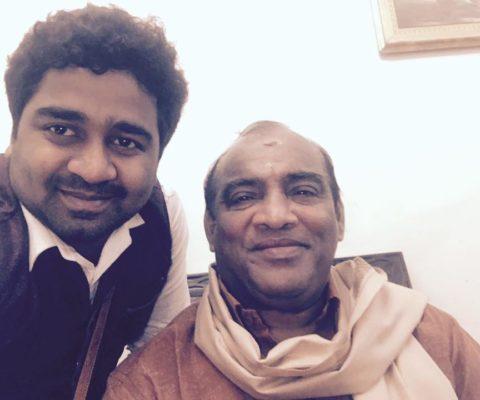 eAbhijith PS Nair with Mattannoor Sankarankutty